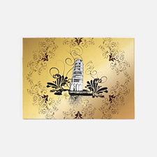 Tower of Pisa 5'x7'Area Rug