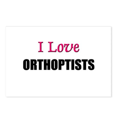 I Love ORTHOPTISTS Postcards (Package of 8)