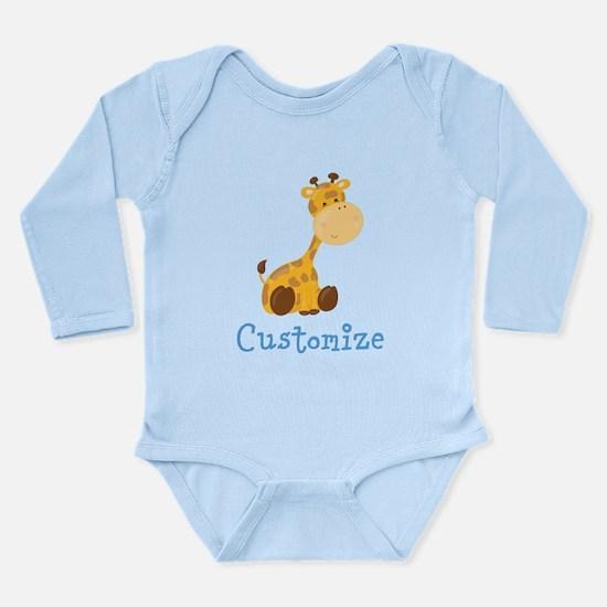 Custom Baby Giraffe Onesie Romper Suit