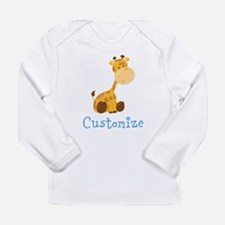 Custom Baby Giraffe Long Sleeve Infant T-Shirt
