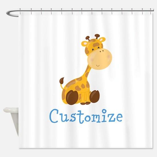 Custom Baby Giraffe Shower Curtain