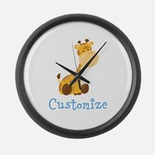 Custom Baby Giraffe Large Wall Clock
