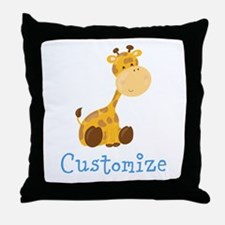 Custom Baby Giraffe Throw Pillow