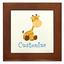Custom Baby Giraffe Framed Tile