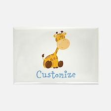 Custom Baby Giraffe Rectangle Magnet