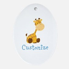 Custom Baby Giraffe Oval Ornament