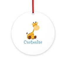 Custom Baby Giraffe Round Ornament
