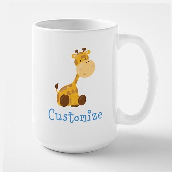 Custom Baby Giraffe Large Mug