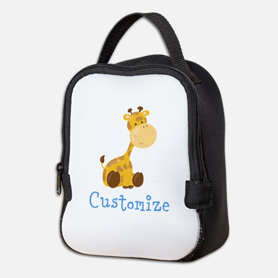 Custom Baby Giraffe Neoprene Lunch Bag