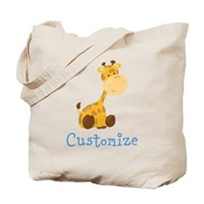Custom Baby Giraffe Tote Bag
