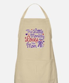 Monkey Loves Mom Apron