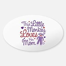 Monkey Loves Mom Decal