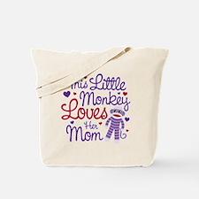 Monkey Loves Mom Tote Bag