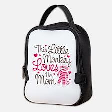 Monkey Loves Mom Neoprene Lunch Bag