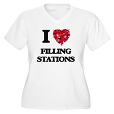 I love Filling Stations Plus Size T-Shirt