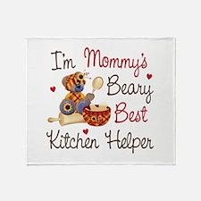 Mom's Kitchen Helper Throw Blanket