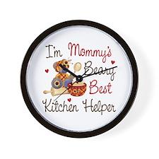 Mom's Kitchen Helper Wall Clock