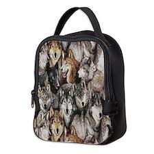 Wolves Neoprene Lunch Bag