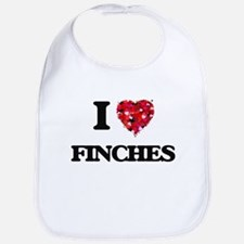 I love Finches Bib