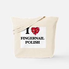 I love Fingernail Polish Tote Bag
