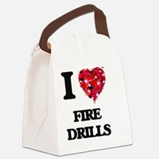 I love Fire Drills Canvas Lunch Bag