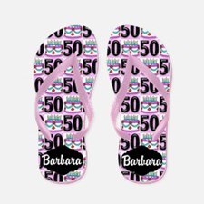 50th Birthday Flip Flops