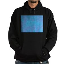 Textured Blue & Purple Abstract Hoody