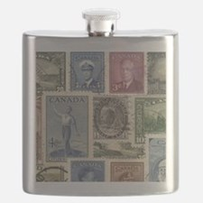 Old Canadian Stamps Flask