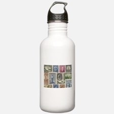 Old Canadian Stamps Water Bottle