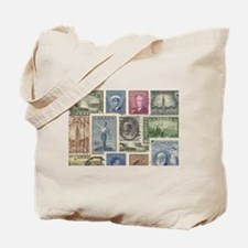Old Canadian Stamps Tote Bag