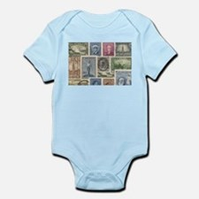 Old Canadian Stamps Body Suit