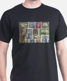 Old Canadian Stamps T-Shirt