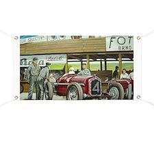 Vintage Car Racing Banner