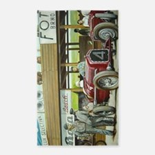 Vintage Car Racing Area Rug