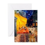 Cafe - Airedale (S) Greeting Card