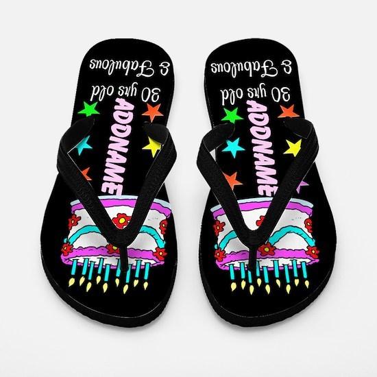 Stylish 30th Flip Flops