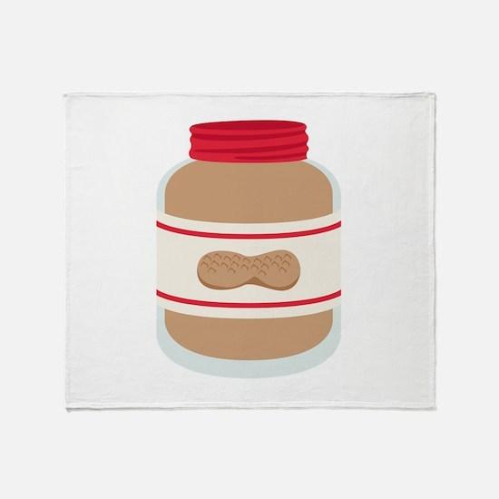 Peanut Butter Jar Throw Blanket