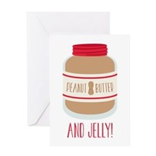 Peanut Butter & Jelly Greeting Cards