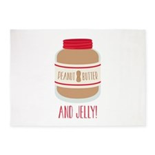 Peanut Butter & Jelly 5'x7'Area Rug