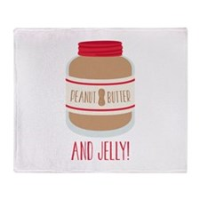 Peanut Butter & Jelly Throw Blanket