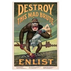Destroy This Mad Brute - Restored Poster Canvas Art