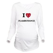 I love Flamboyance Long Sleeve Maternity T-Shirt