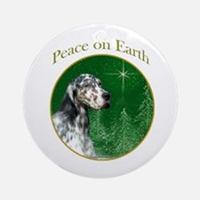 English Setter Peace Ornament (Round)