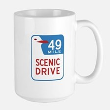 49-Mile Scenic Drive, San Francisco, US Large Mug