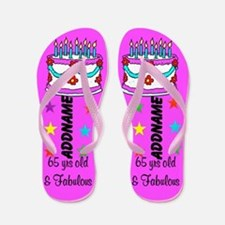 65th Party Girl Flip Flops