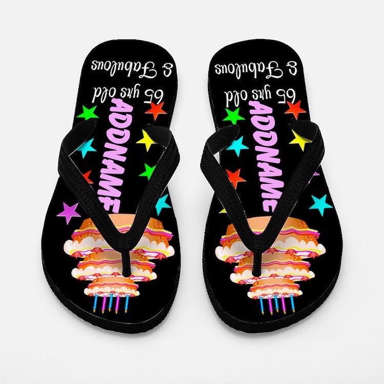 Fabulous 65th Flip Flops