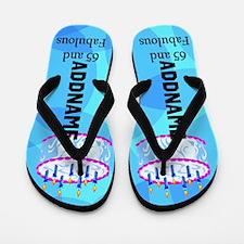 Blue Birthday 65th Flip Flops