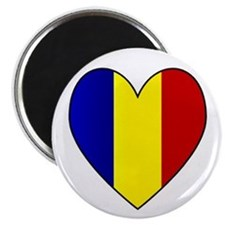 Romanian Flag Heart Magnet