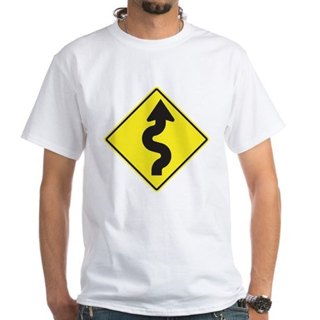 Curve Right White T-Shirt