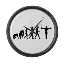Rings Gymnast Large Wall Clock